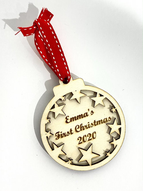 Personalised Wooden Christmas Ornament
