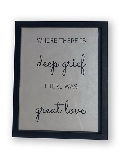 Framed Bereavement Quote