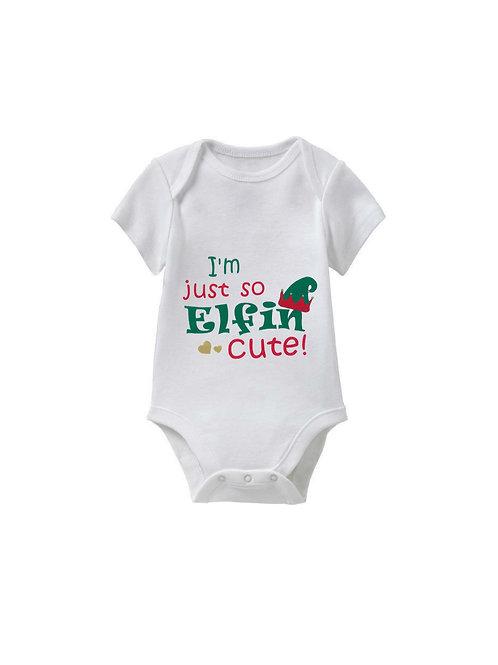 Elfin' Cute Christmas Onesie - Babies