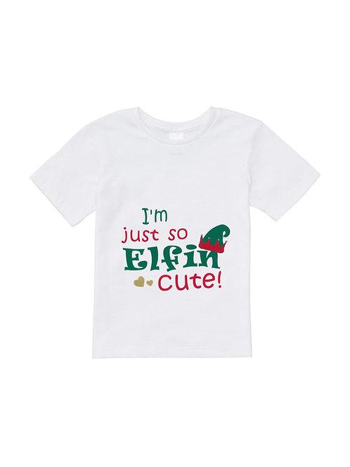 Elfin' Cute Christmas Shirt - Kids