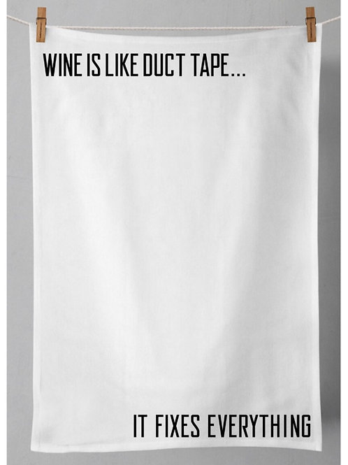 Wine Saying Tea Towel