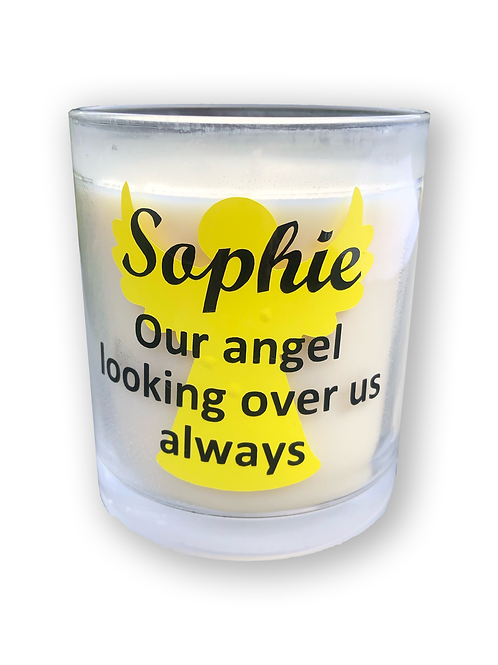 Personalised Bereavement / Sympathy Candle