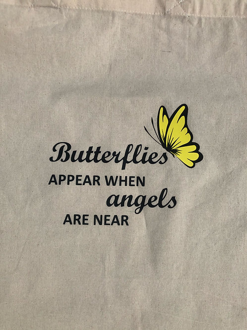Butterfly Cotton Reusable Tote Bag