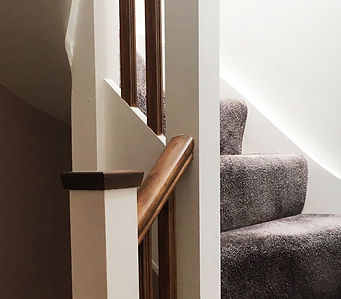 Staircasing and bannisters, Watford, Hertfordshire, UK