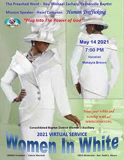 Women in White 2021 Virtual Service Poster