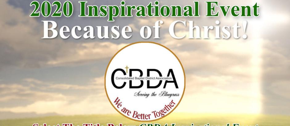 CBDAKY 2020 INSPIRATIONAL EVENT