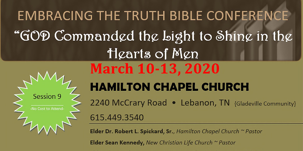 Embracing the Truth Bible Conference 2020