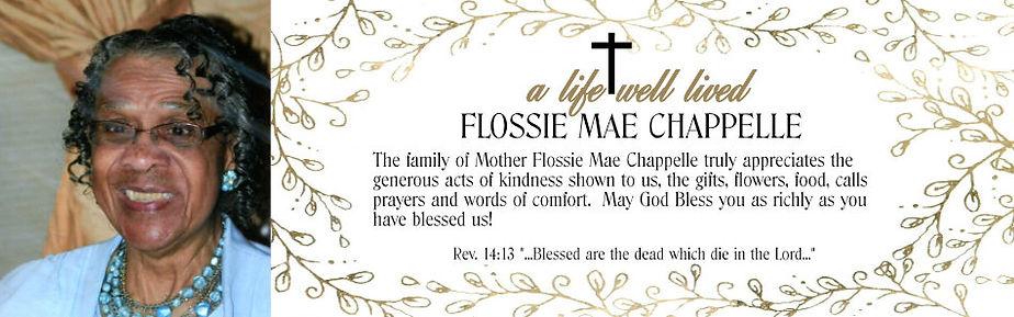 Mother Chappelle Acknowledgement design.