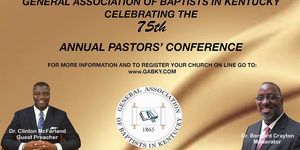 2019 Pastor's Conference Church Registration