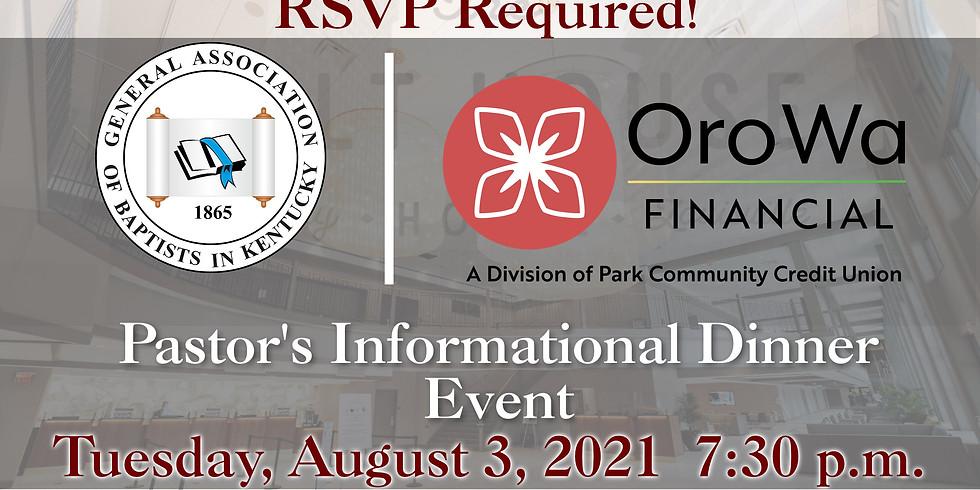 156th Annual GABKY OroWa Pastor's Informational Dinner