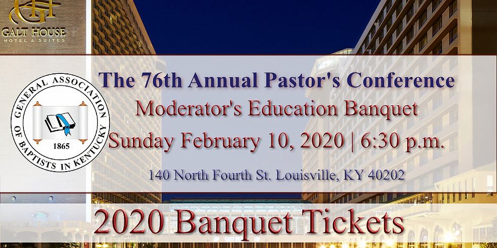 76th Annual Pastor's Conference Banquet