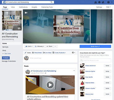 A&Y Construction and Remodeling Facebook Branding Design by Weboniqs Creative