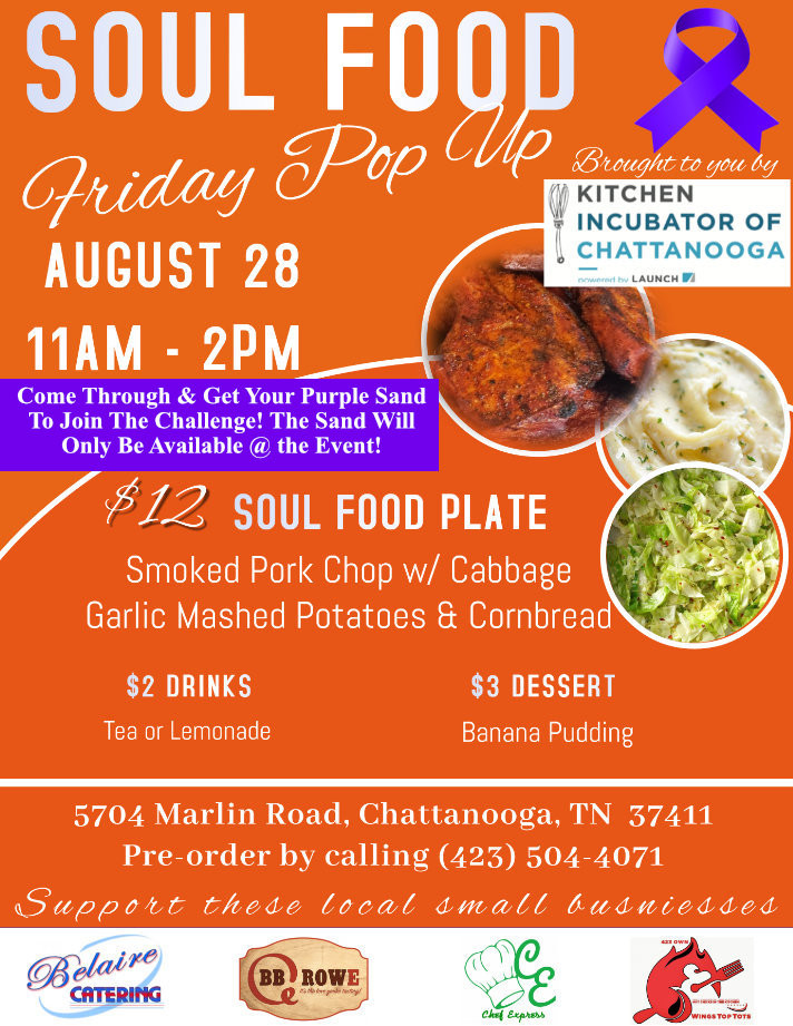 Get Your Purple Sand At the Soul Food Friday Pop-up Event!