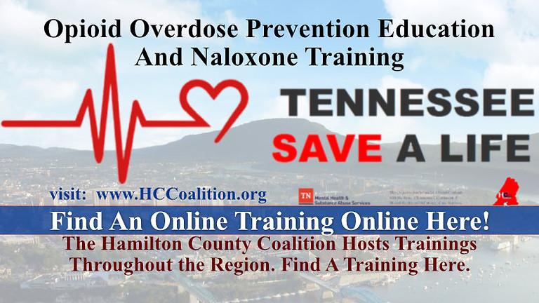 VIRTUAL OPIOID OVERDOSE PREVENTION EDUCATION & NALOXONE TRAINING