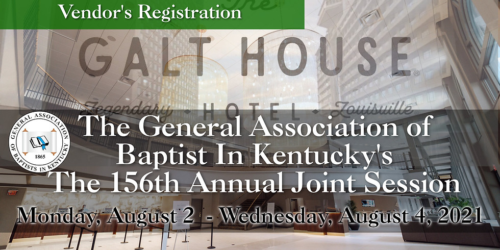 156th Joint Annual Session Vendor Registration