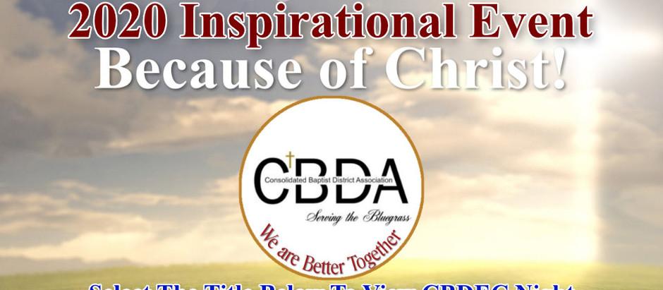 CBDA 2020 INSPIRATIONAL EVENT