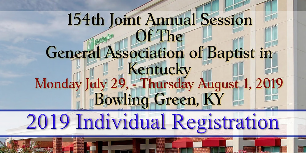 Individual Registration - General Association of Baptist in Kentucky 154th Joint Session  (2)