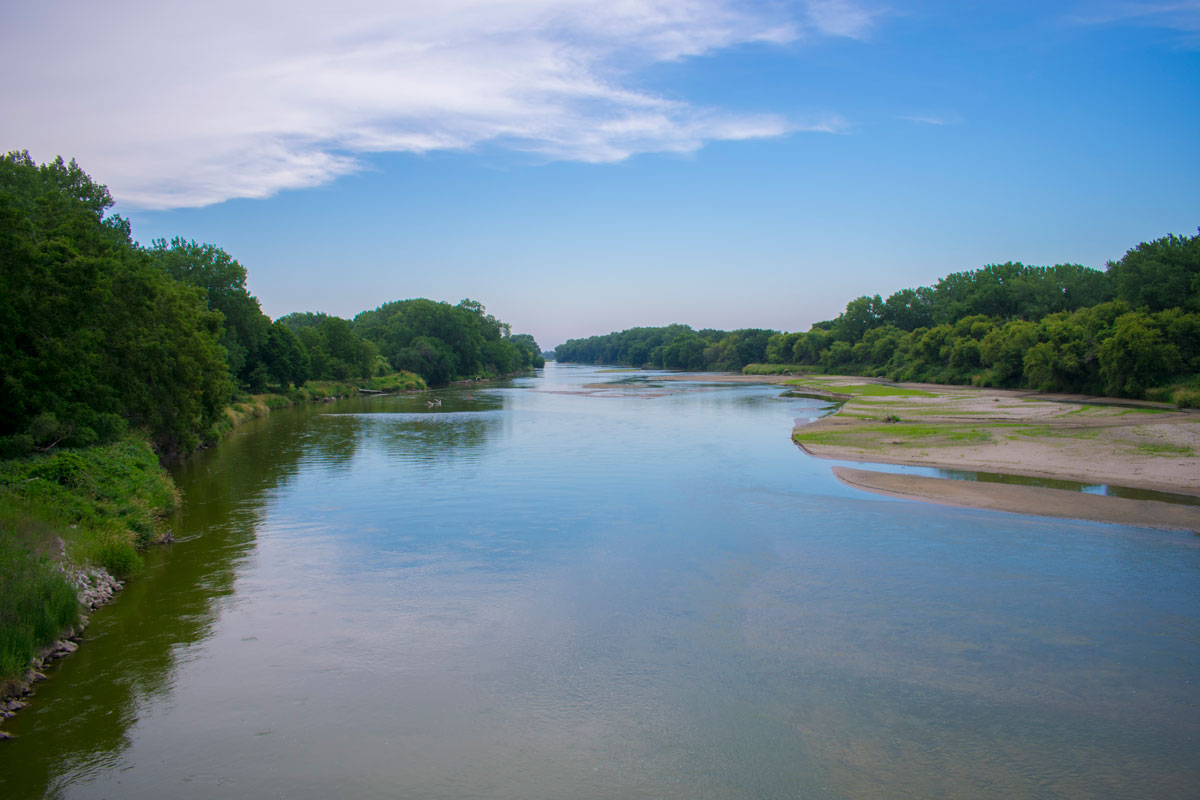 Elkhorn River, eastward view