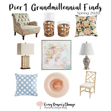 Pier1 Spring 2020 Grandmillennial Finds