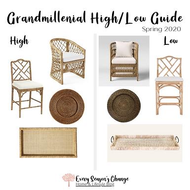 Spring 2020 Grandmillenial High/Low Guide
