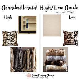 Autumn 2020 Grandmillennial High/Low Guide