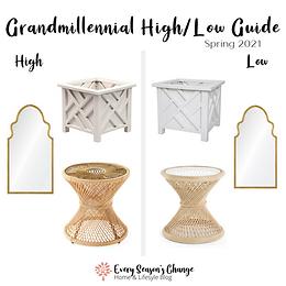 Spring 2021 Grandmillennial High/Low Guide