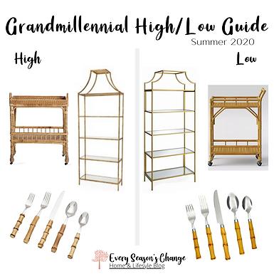 Summer 2020 Grandmillennial High/Low Guide