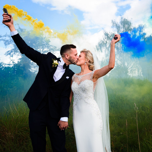 Smokebomb Cheshire Wedding