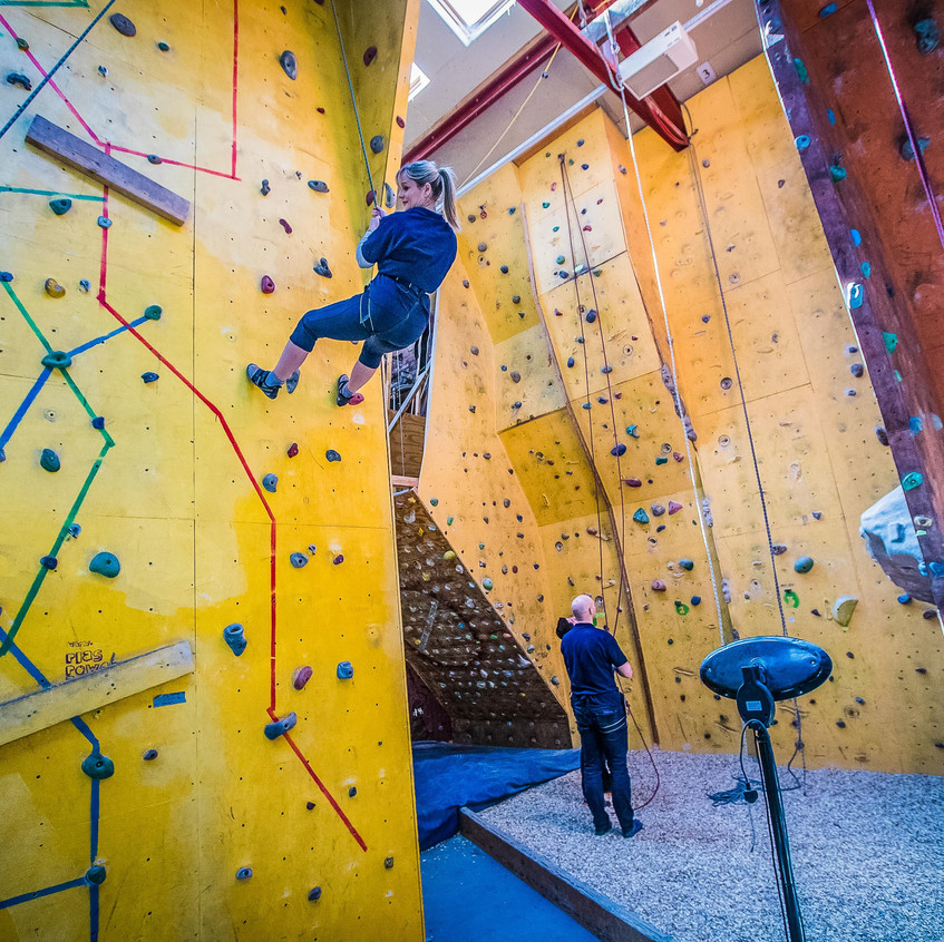 Plas Power Climbing Wall Wrexham