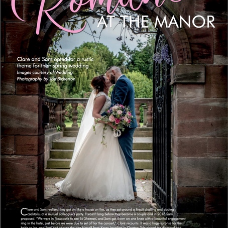 Clare & Sam's Inglewood Manor Wedding Featured in Print!