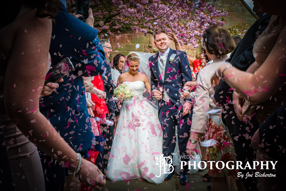 All Saint's Church Wedding Childwall Liverpool confetti