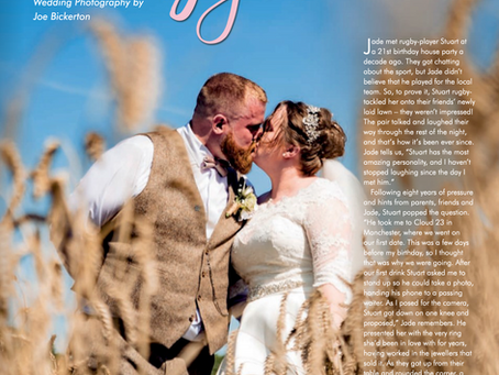 Jade & Stuart's Stock Farm Wedding Covered in Magazine!