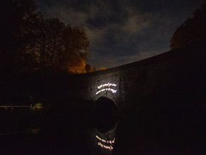 Youngster's Canal Inspired Poem Goes Up In Lights