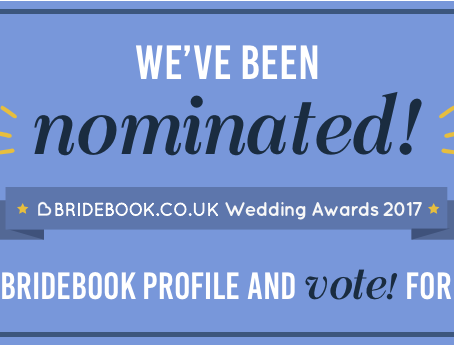 Nominated for a Wedding Photography Award!!