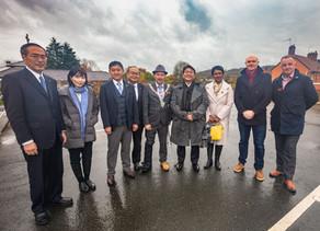 Wrexham Deputy Mayor Greets Japanese Delegates