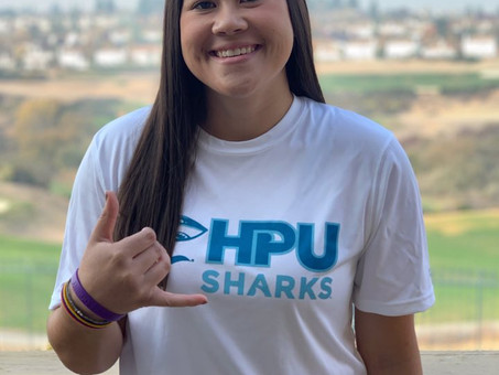 Keiana Sieu says Alohah to swim with the Sharks!