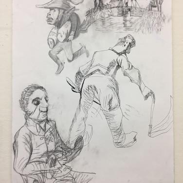 Ingres, Van Gogh, Daumier Copy