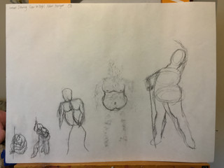 Gesture Drawing (low to high) #2