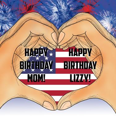 Happy Birthday Mom and Elizabeth