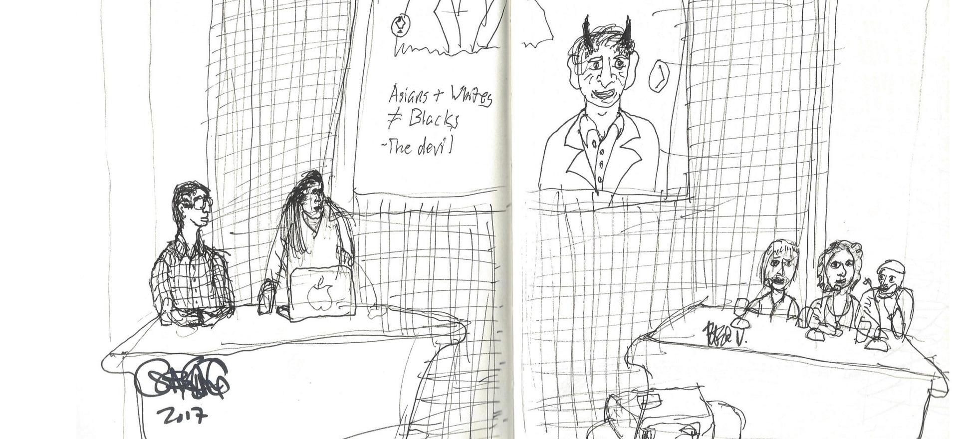 Mocca Panel Staring- Gene Yang
