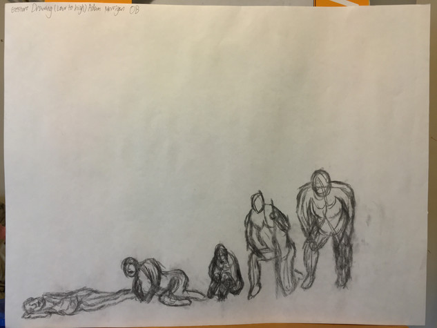 Gesture Drawing (low to high)