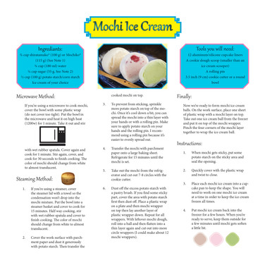 Mochi Ice Cream Ingredients