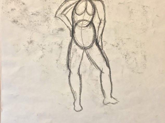 Observation Drawing of Model
