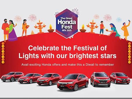 Offers on Honda Cars Models for November 2020