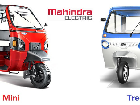Mahindra Electric sold 4,042 electric three wheelers in FY2020!