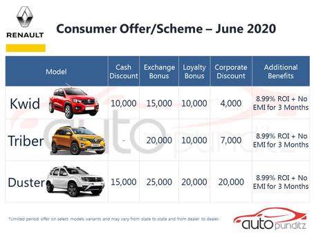 Offers on Renault Models for June 2020