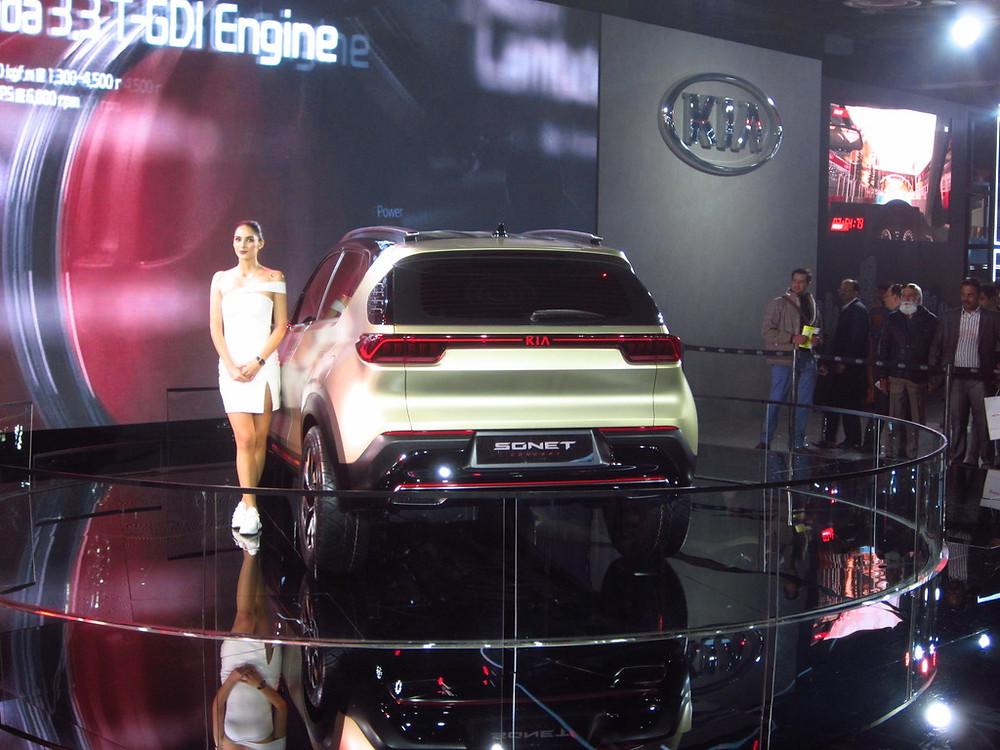 2020 Kia Sonet Rear Auto Expo