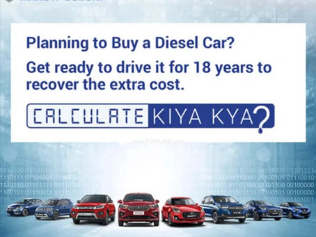 Over 17% of the cars sold in India were Diesels post BS6 implementation!