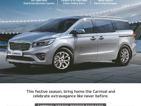 Discounts on the Kia Carnival for September 2020