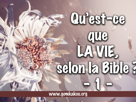 Qu'est-ce que LA VIE selon Bible ? -1- Bios